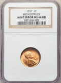 1937 1C Lincoln Cent -- Broadstruck -- MS66 Red NGC