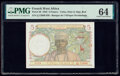 World Currency, French West Africa Banque de l'Afrique Occidentale 5 Francs 2.3.1943 Pick 26 PMG Choice Uncirculated 64.. ...
