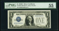 Small Size:Silver Certificates, Fr. 1604 $1 1928D Silver Certificate. H-B Block. PMG About...