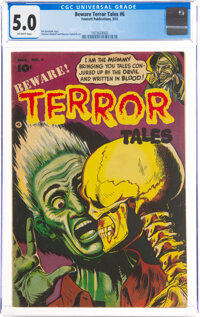 Beware Terror Tales #6 (Fawcett Publications, 1953) CGC VG/FN 5.0 Off-white pages