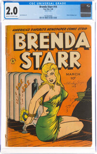 Brenda Starr #14 (#2) (Superior Comics, 1948) CGC GD 2.0 Cream to off-white pages