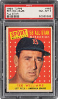 Baseball Cards:Singles (1950-1959), 1958 Topps Ted Williams All Star #485 PSA NM-MT 8....