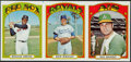 Baseball Cards:Singles (1970-Now), 1972 Topps Uncut Proof Strip of 3....