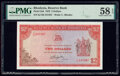 World Currency, Rhodesia Reserve Bank of Rhodesia 2 Dollars 10.4.1979 Pick 35d PMG Choice About Unc 58 EPQ.. ...