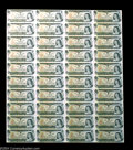 Canadian Currency: , BC-46b $1 1973 Uncut Sheet of 40. Choice-Gem Crisp ...