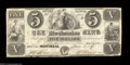 Canadian Currency: , Montreal, P.Q.- The Mechanics Bank $5 June 1, 1837 Ch. 435-...