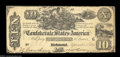 Confederate Notes:1861 Issues, T29 $10 1861. A rather high grade example of this popular ...