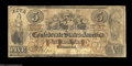 Confederate Notes:1861 Issues, T31 $5 1861. A problem-free uncancelled example of this ...