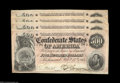 Confederate Notes:1864 Issues, T64 $500 1864, Four Consecutive Examples. This beautiful ... (4 notes)