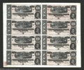 Confederate Notes:1864 Issues, T68 $10 1864 Uncut Sheet of Eight. A second sheet, equally ...
