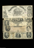 Confederate Notes:Group Lots, Four 1861 Types.
