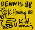 Prints & Multiples, Keith Haring (American, 1958-1990). 1988 Calendar, 1988. Paper with ink. 12 x 14 inches (30.5 x 35.6 cm). Signed and ded...