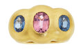 Estate Jewelry:Rings, Sapphire, Pink Sapphire, Gold Ring. ...
