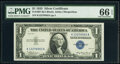Small Size:Silver Certificates, Fr. 1607 $1 1935 Silver Certificate. PMG Gem Uncirculated ...