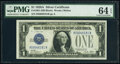 Small Size:Silver Certificates, Fr. 1601 $1 1928A Silver Certificate. PMG Choice Uncircula...