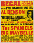 Music Memorabilia:Posters, Etta James, Jerry Butler, The Dells, Moonglows 1960 Chicago Concert Poster....