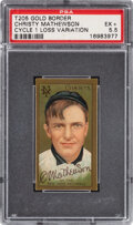 Baseball Cards:Singles (Pre-1930), 1911 T205 Cycle Christy Mathewson (1 Loss) PSA EX+ 5.5 - Pop One, None Higher of This Scarce Variant....