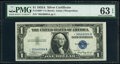 Small Size:Silver Certificates, Fr. 1608* $1 1935A Silver Certificate Star. PMG Choice Unc...