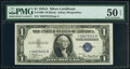 Small Size:Silver Certificates, Fr. 1608* $1 1935A Silver Certificate Star. *-B Block. PMG...