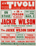 Music Memorabilia:Posters, Jackie Wilson & Totally Unknown Four Tops 1962 Chicago Concert Poster....