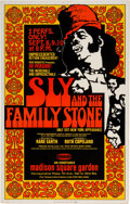 Music Memorabilia:Posters, Sly & The Family Stone 1971 Madison Square Garden Concert Poster....