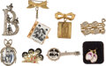 Music Memorabilia:Memorabilia, The Beatles Collection of Earrings and Brooches/Pins (circa 1964). ...