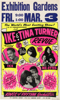 Music Memorabilia:Posters, Ike & Tina Turner Revue 1967 Hot Pink & Yellow Day-Glo Concert Poster (AOR-1.72). ...