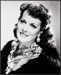 """Movie Posters:Miscellaneous, Maureen O'Hara & Other Lot (1970s). Overall: Fine+. Signed Restrike Portrait Photo & Restrike Photo (8"""" X 10""""). Miscellaneou... (Total: 2 Items)"""