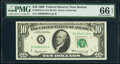 Small Size:Federal Reserve Notes, Fr. 2018-A; B $10 1969 Federal Reserve Notes. PMG Gem Uncirculated 66 EPQ.. ... (Total: 2 notes)