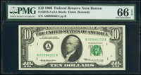 Fr. 2018-A; B $10 1969 Federal Reserve Notes. PMG Gem Uncirculated 66 EPQ. ... (Total: 2 notes)