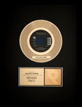 """Music Memorabilia:Awards, Cher/Peter Cetera """"After All"""" RIAA R Hologram Gold Sales Award. ..."""