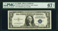 Small Size:Silver Certificates, Fr. 1613W $1 1935D Wide Silver Certificate. PMG Superb Gem...