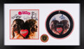 Music Memorabilia:Autographs and Signed Items, Heart Signed Dreamboat Annie With Hall of Fame Medal....