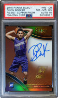 Basketball Cards:Singles (1980-Now), 2015 Panini Select Devin Booker (Rookie Copper Prizm Signa...
