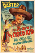 """Movie Posters:Western, The Return of the Cisco Kid (20th Century Fox, 1939). Fine+ on Linen. One Sheet (27.25"""" X 41"""").. ..."""