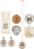 Music Memorabilia:Memorabilia, The Beatles Collection of Necklaces, Pair of Earrings, and...