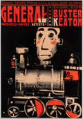 Movie/TV Memorabilia:Posters, Buster Keaton Polish A1 Poster for The General (UA, 1926/R-1964). ...