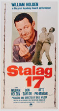 Movie/TV Memorabilia:Autographs and Signed Items, Frank Darabont Personal 1959 Re-release Three-Sheet Poster for Stalag 17 Signed by Director Billy Wilder (Paramoun...