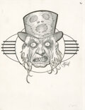 """Movie/TV Memorabilia:Autographs and Signed Items, Eric Powell Signed Original Illustration of """"The Zombie Priest"""" from The Goon (ca. 2000s)."""