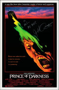"""Movie Posters:Horror, Prince of Darkness (Universal, 1987). Rolled, Very Fine. Autographed One Sheet (27"""" X 41""""). Horror.. ..."""