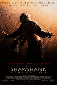 """The Shawshank Redemption (Columbia, 1994). Rolled, Very Fine. One Sheet (27"""" X 40"""") SS Advance. Drama"""