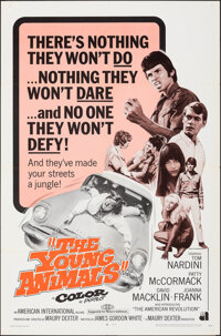 """The Young Animals (American International, 1968). Folded, Very Fine. One Sheet (27"""" X 41""""). Exploitation"""