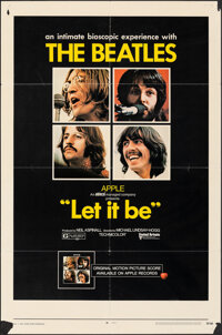 """Let It Be (United Artists, 1970). Folded, Fine. One Sheet (27"""" X 41""""). Rock and Roll"""