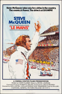"""Le Mans (National General, 1971). Folded, Fine/Very Fine. One Sheet (27"""" X 41"""") Tom Jung Artwork. Sports"""