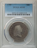 Early Half Dollars, 1795 50C Two Leaves AG3 PCGS. PCGS Population: (46/1909). NGC Census: (18/777). CDN: $575 Whsle. Bid for NGC/PCGS AG3 . Min...