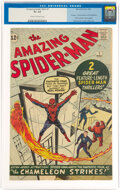Silver Age (1956-1969):Superhero, The Amazing Spider-Man #1 (Marvel, 1963) CGC GD+ 2.5 Cream to off-white pages....