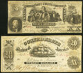 Confederate Notes:1861 Issues, T9 $20 1861 PF-7 Cr. 29 Fine;. CT20/142 $20 1861 Very Fine.. ... (Total: 2 notes)