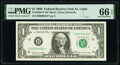 Low Serial Number 6252 Fr. 1903-H* $1 1969 Federal Reserve Star Note. PMG Gem Uncirculated 66 EPQ