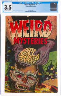 Weird Mysteries #5 (Gillmor, 1953) CGC VG- 3.5 Off-white to white pages