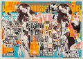 Works on Paper, Charlie Anderson (20th Century). Still Life, 2013. Mixed media and collage on board. 47 x 65 inches (119.4 x 165.1 cm). ...